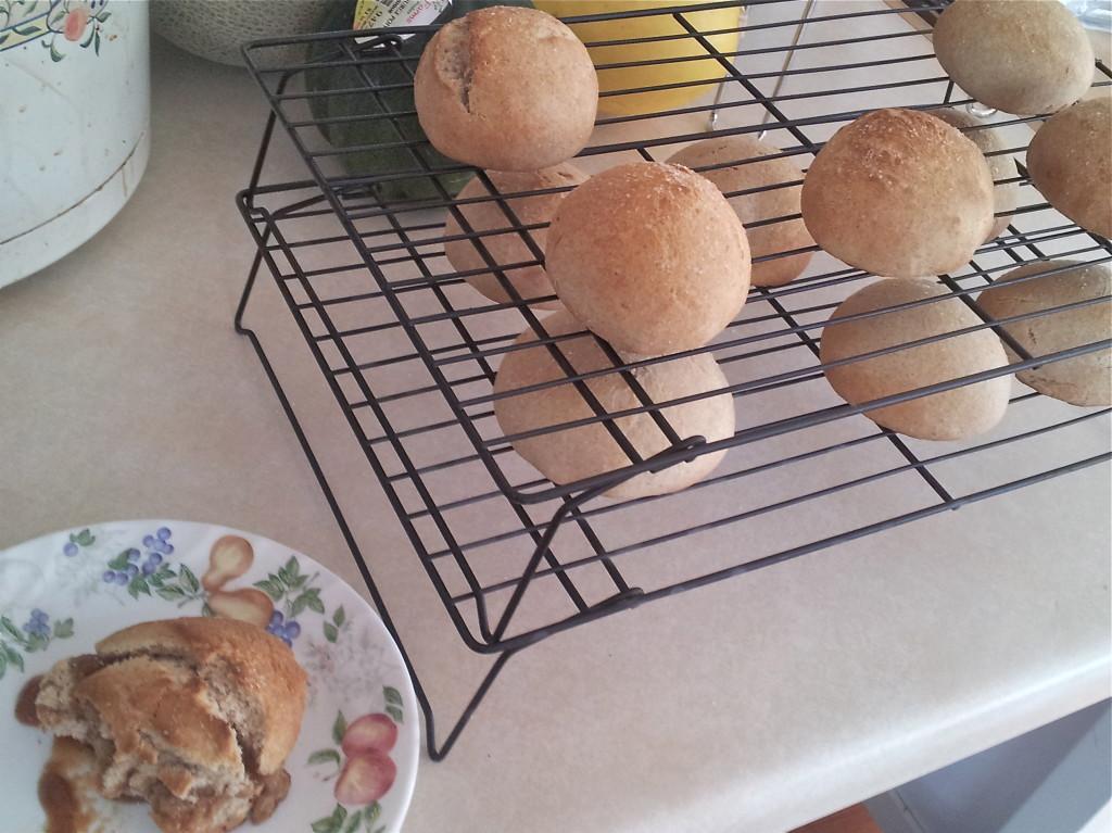 First attempt at homemade buns.